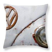 Vintage Vw Badge Throw Pillow