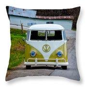 Vintage Volkswagen Bus Throw Pillow