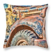Vintage Welding Truck Throw Pillow