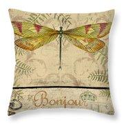 Vintage Wings-paris-e Throw Pillow
