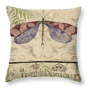 Vintage Wings-paris-f Throw Pillow
