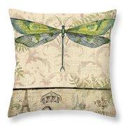 Vintage Wings-paris-g Throw Pillow
