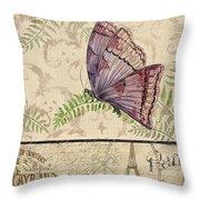 Vintage Wings-paris-i Throw Pillow