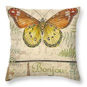 Vintage Wings-paris-l Throw Pillow