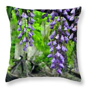 Vintage Wisteria 200 Throw Pillow