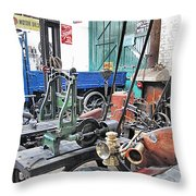 Vintage Workshop In Colour Throw Pillow