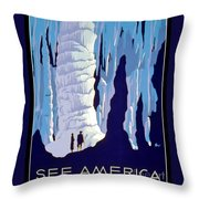 Vintage Wpa Poster See America Throw Pillow by Edward Fielding