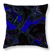 Vinyl Blues Throw Pillow