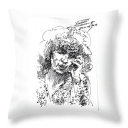 Viola On The Phone Throw Pillow