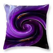 Viola Swirl Throw Pillow