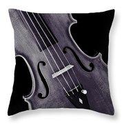 Viola Violin Photograph Strings Bridge In Sepia 3263.01 Throw Pillow