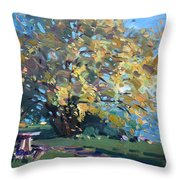 Viola Walking In The Park Throw Pillow