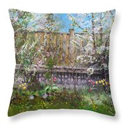 Viola's Apple And Cherry Trees Throw Pillow