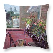 Viola's Balcony Throw Pillow