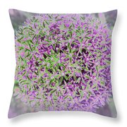 Violet And Green Throw Pillow