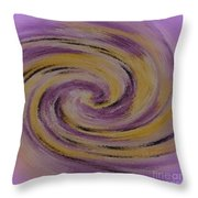 Violet And Yellow In Motion Throw Pillow