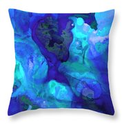 Violet Blue - Abstract Art By Sharon Cummings Throw Pillow