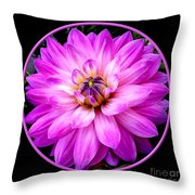 Violet Dahlia Throw Pillow