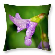 Violet Drops Throw Pillow