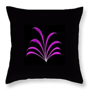 Violet Floral Creation Throw Pillow