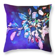 Violet Illumination Throw Pillow