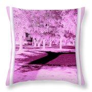 Violet Illusion Throw Pillow