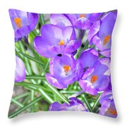 Violet Lilies Throw Pillow