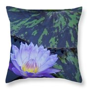 Violet Lily Throw Pillow