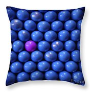 Violet Lost In Blue Throw Pillow