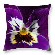 Violet Macro Throw Pillow