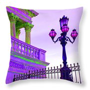 Violet Mood Throw Pillow
