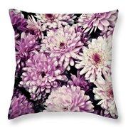 Violet Mums Throw Pillow