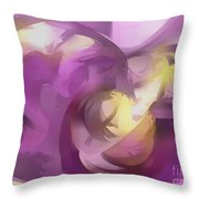 Violet Summer Pastel Abstract Throw Pillow