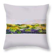 Violet Sunrise Throw Pillow