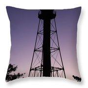 Violet Sunset Throw Pillow