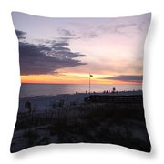 Violet Sunset Over The Sea Throw Pillow