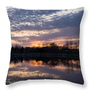 Violet Twilight On The Lake Throw Pillow
