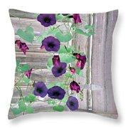 Violet Vine - Photopower 324 Throw Pillow
