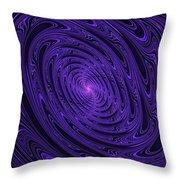 Violet Vortex-3 Throw Pillow