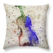 Violin Throw Pillow by Aged Pixel
