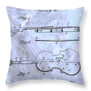 Violin Patent Poster Throw Pillow