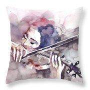 Violin Prelude Throw Pillow