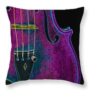Violin Viola Body Photograph In Digital Color 3265.03 Throw Pillow
