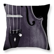 Violin Viola Body Photograph Or Picture In Sepia 3265.01 Throw Pillow