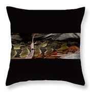 Viper Den Throw Pillow