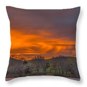 Virga At Sunrise Throw Pillow