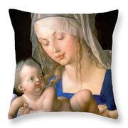 Virgin And Child Holding A Half-eaten Pear, 1512 Throw Pillow