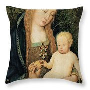 Virgin And Child With Pomegranate Throw Pillow by Hans Holbein the Younger