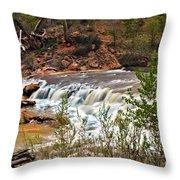 Virgin Falls Throw Pillow