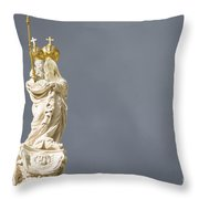 Virgin Mary And Baby Jesus Horizontal Throw Pillow